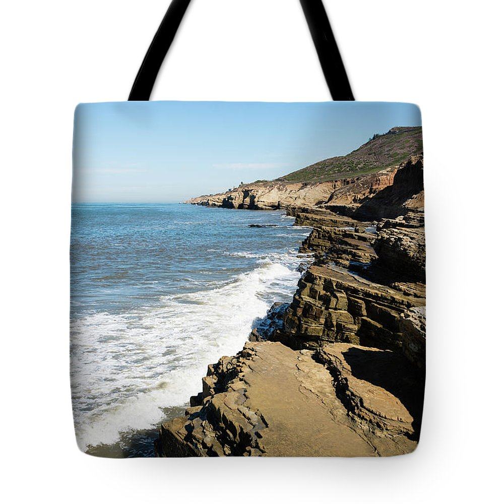 Tide Pools Tote Bag featuring the photograph Tide Pools Area by Robert VanDerWal