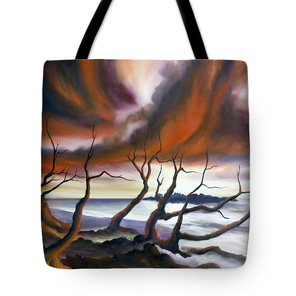 Marsh Tote Bag featuring the painting Tideland by James Christopher Hill