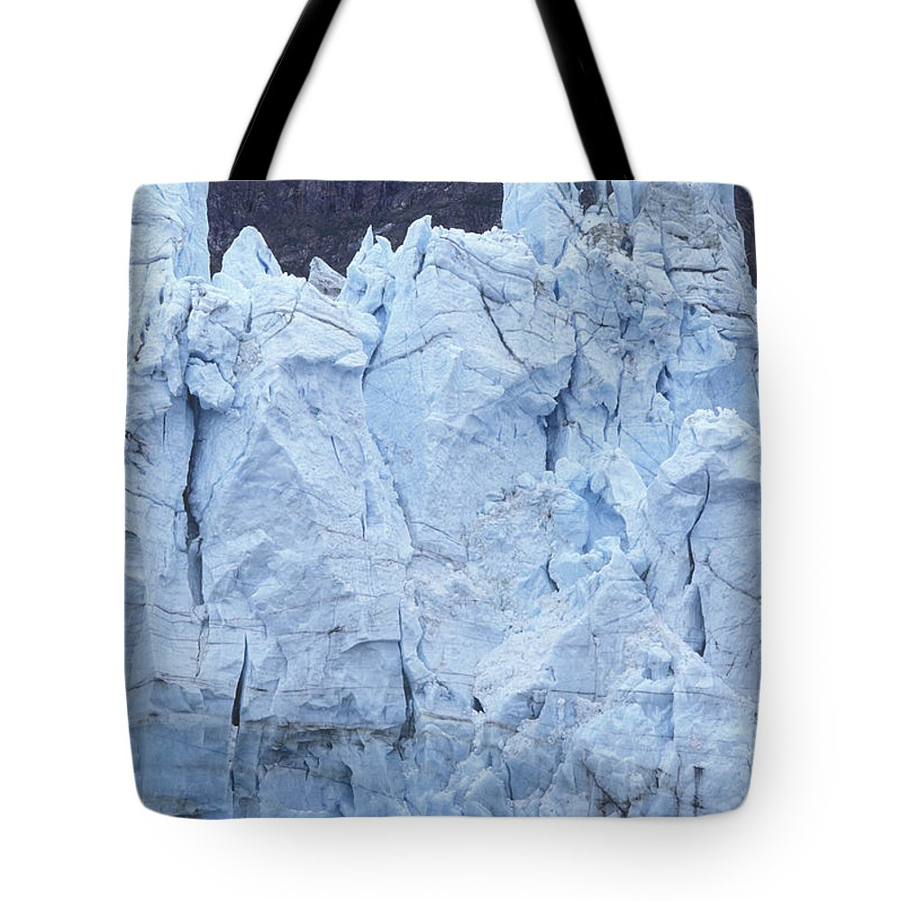 Glaciers Tote Bag featuring the photograph Tidewater Glacier In Glacier Bay by Rich Reid