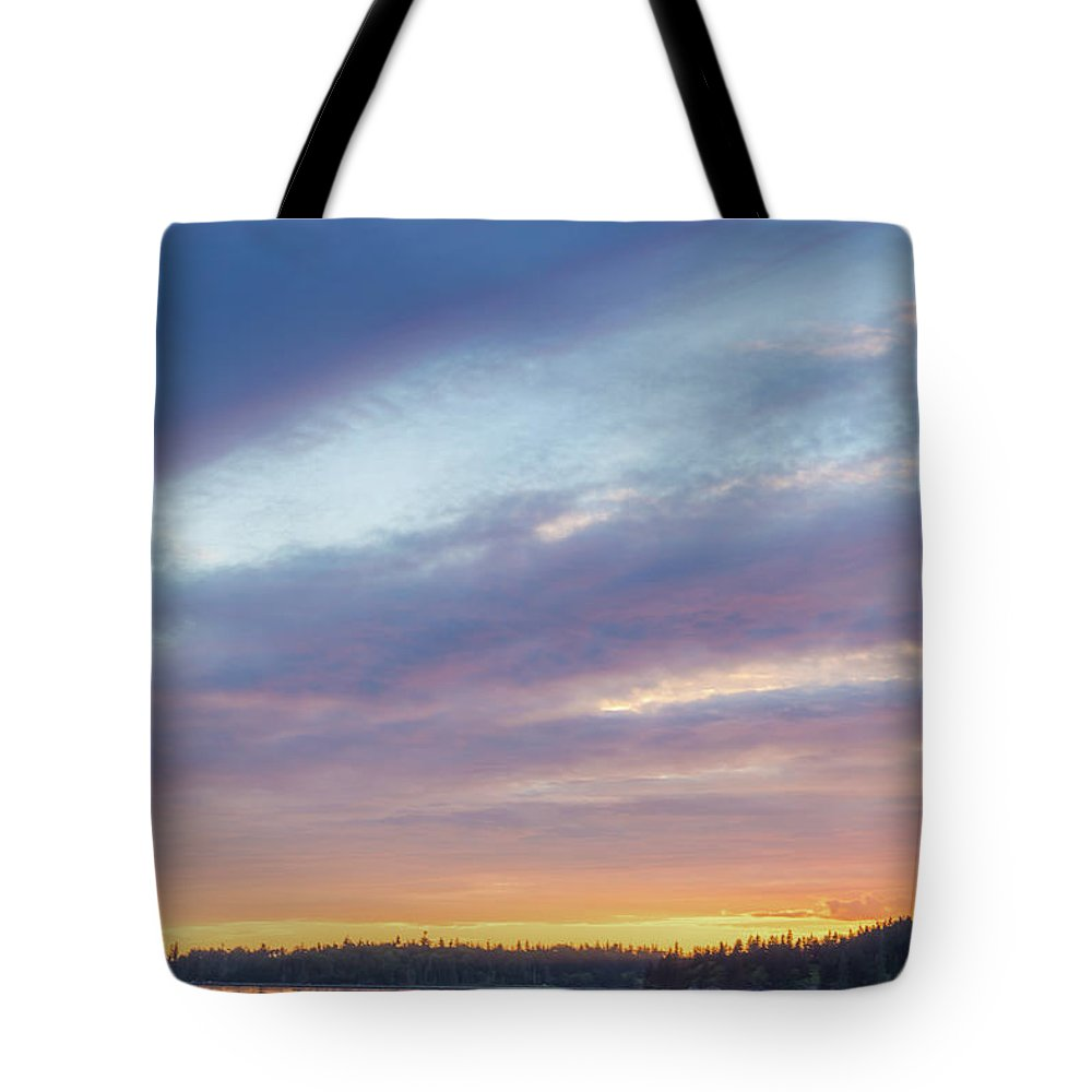 Tied Off Tote Bag featuring the photograph Tied Off In French Village, Nova Scotia by Mike Organ