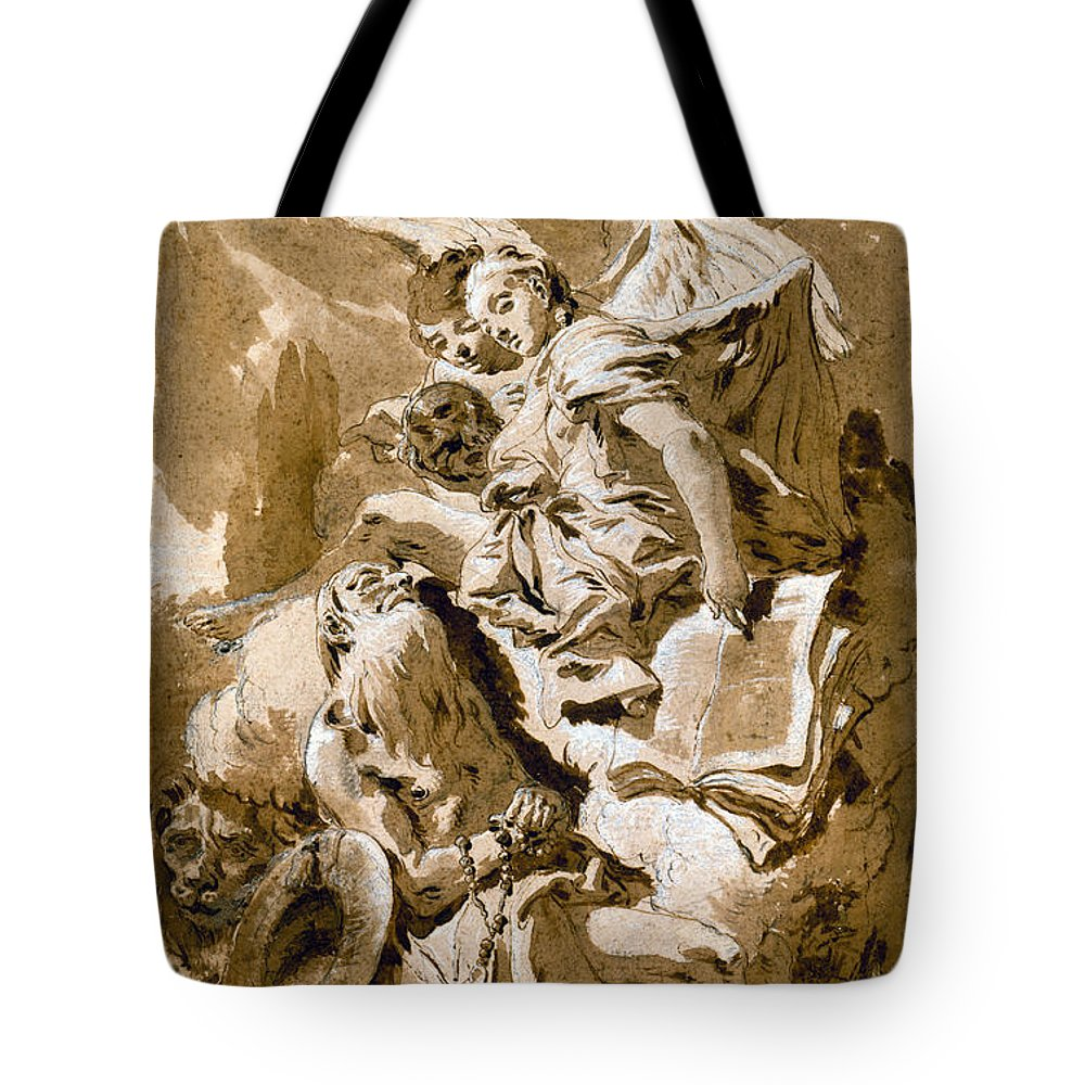1730s Tote Bag featuring the painting Tiepolo: Saint Jerome by Granger