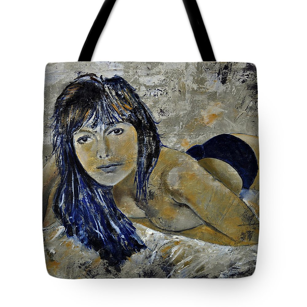 Girl Tote Bag featuring the painting Tiffany 45 by Pol Ledent