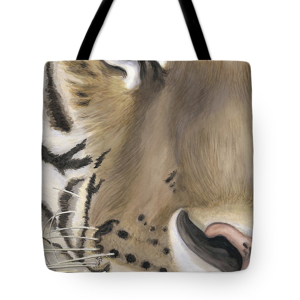 Tiger Tote Bag featuring the painting Tiger Face by Patty Vicknair