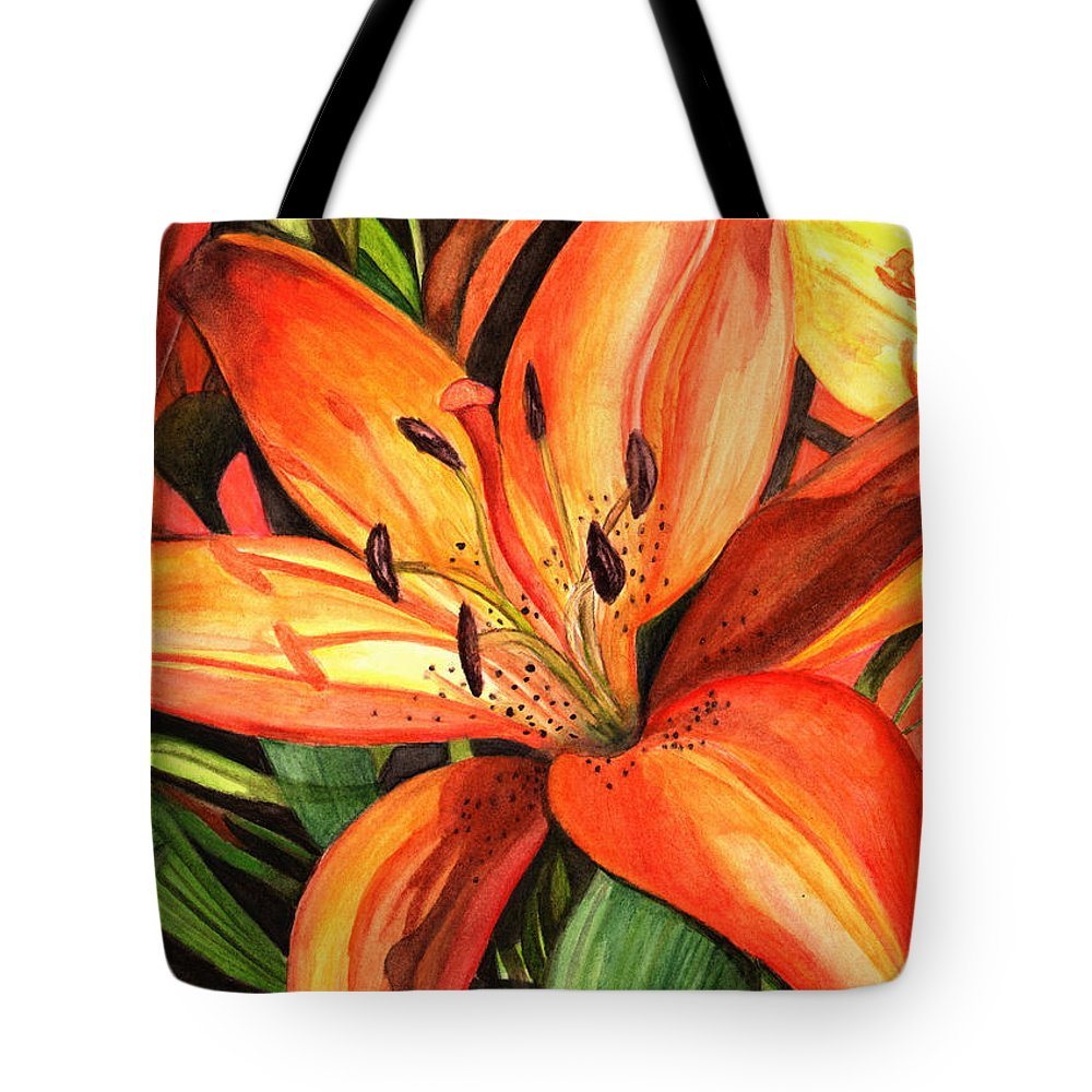 Tiger Lilies Tote Bag For Sale By Elaine Hodges