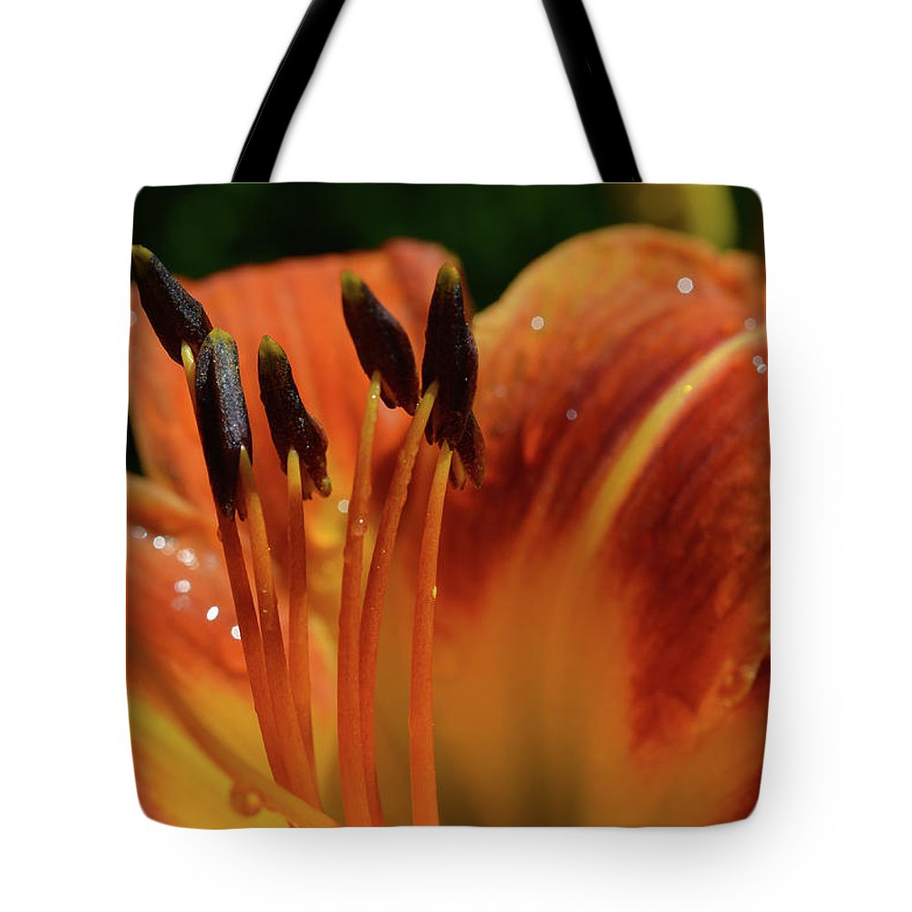 Flowers Tote Bag featuring the photograph Tiger Lily by Dave Thompsen