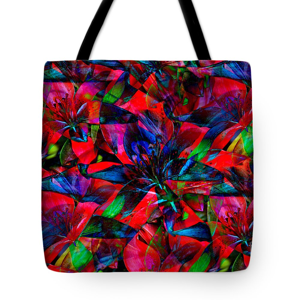 Abstract Art Tote Bag featuring the photograph Tiger Lily by Donna Bentley