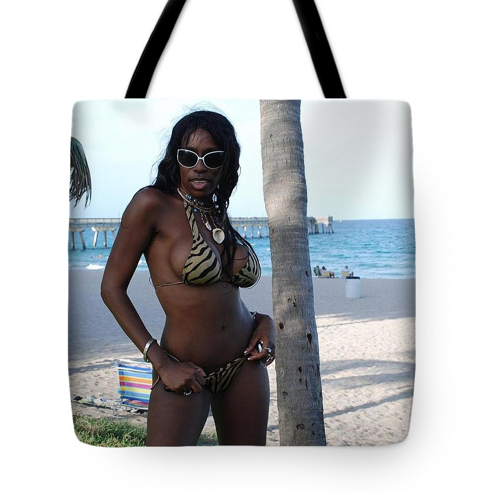 Sand Tote Bag featuring the photograph Tiger Stripes by Rob Hans