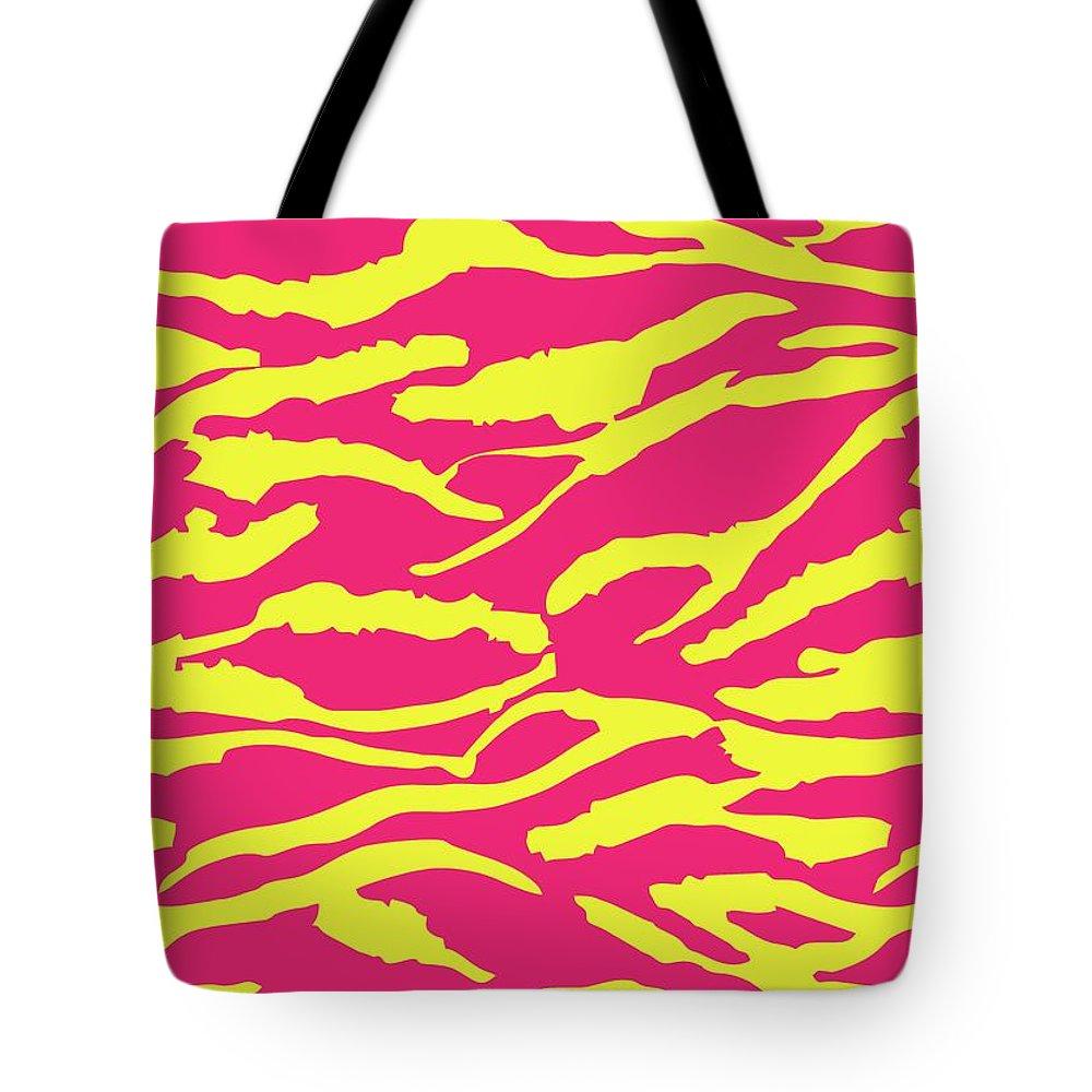 Tiger Tote Bag featuring the digital art Tiger Stripes by Saadana Shanmukam