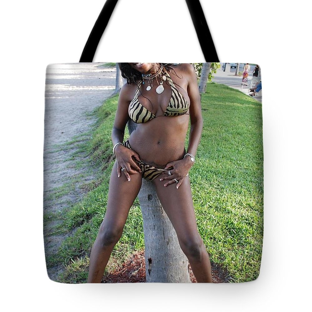 Sand Tote Bag featuring the photograph Tiger Strips by Rob Hans
