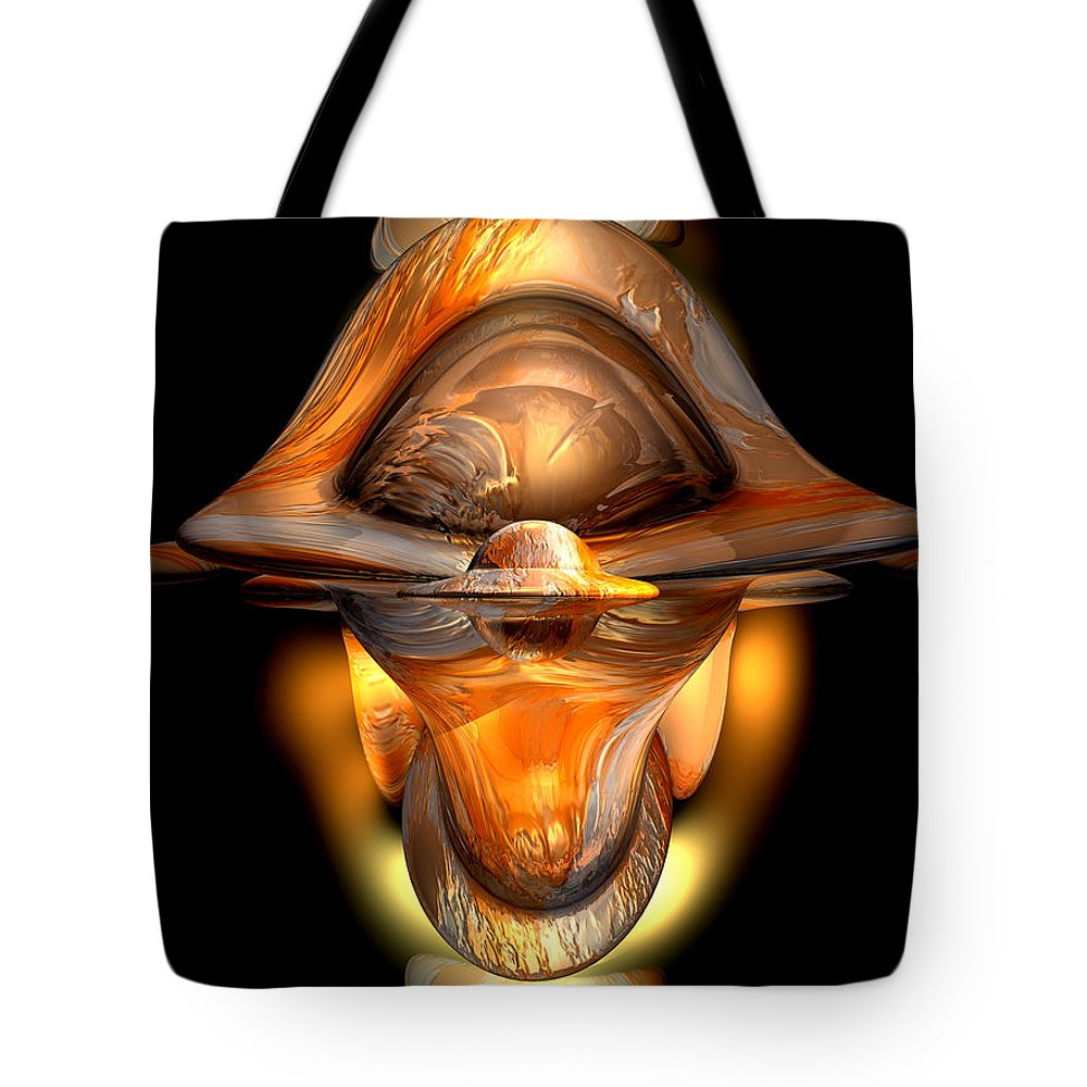3d Tote Bag featuring the digital art Tiki Abstract by Alexander Butler