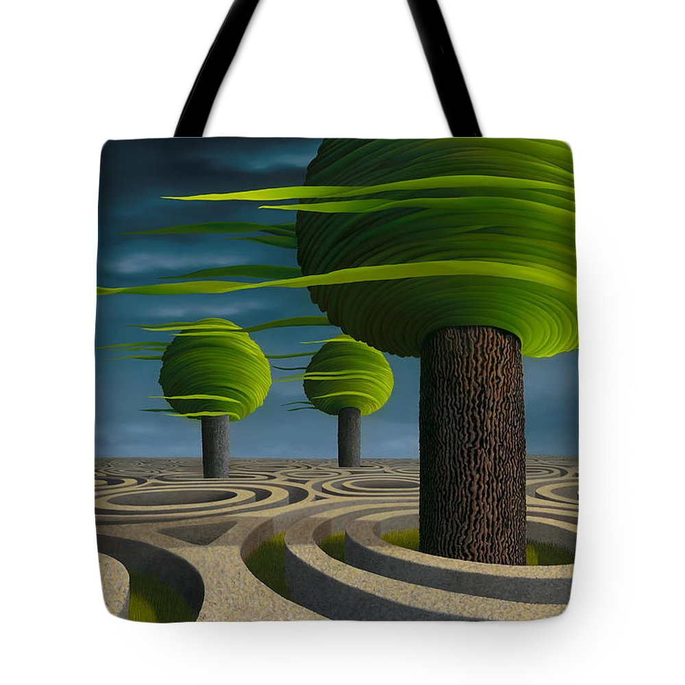 Tree Tote Bag featuring the painting Tilia Arbora by Patricia Van Lubeck