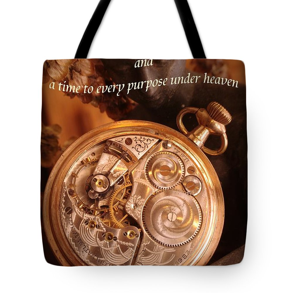 Pocket Watch Tote Bag featuring the photograph Time... by Arthur Miller