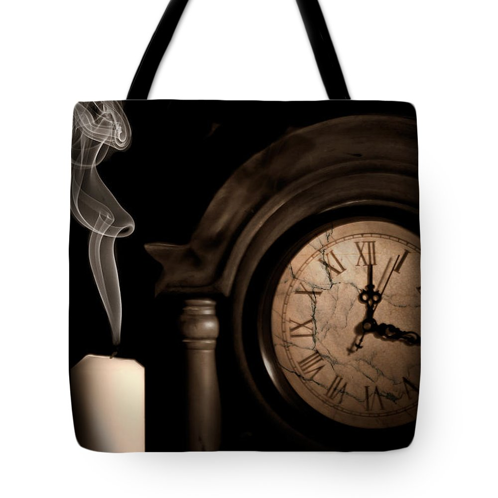 Candle Tote Bag featuring the photograph Time For Bed by Tom Mc Nemar