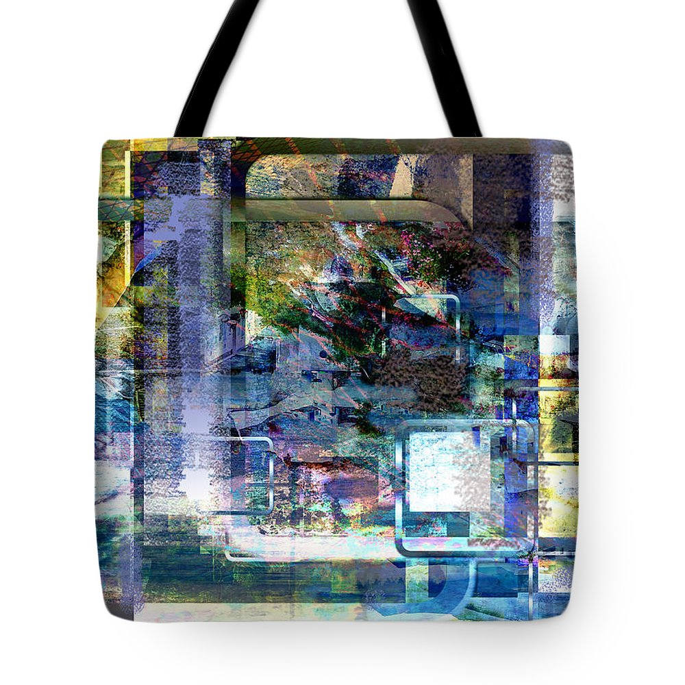 Abstract Tote Bag featuring the digital art Time Framing by Art Di