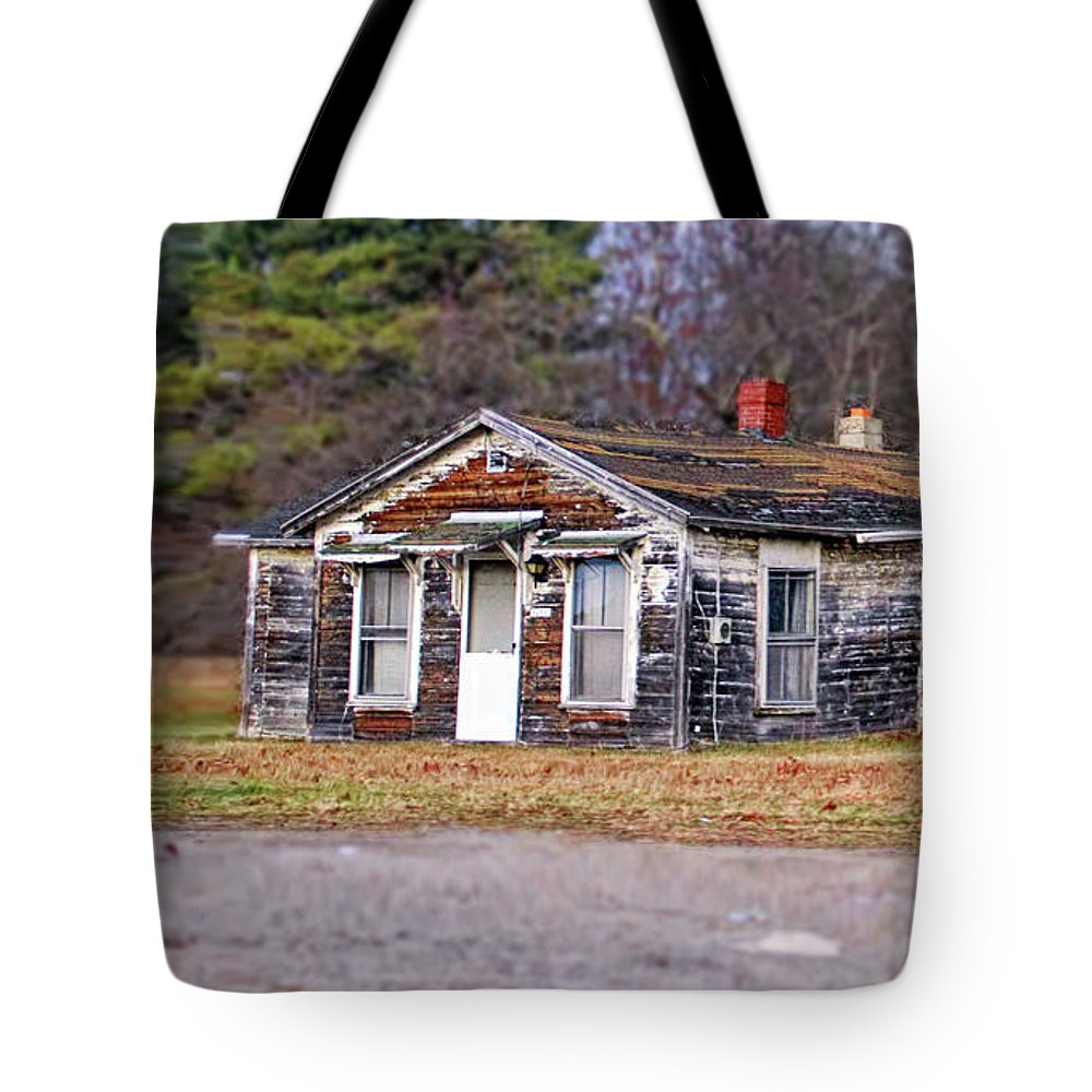 Delapitated Tote Bag featuring the photograph Time Frozen by Catherine Melvin