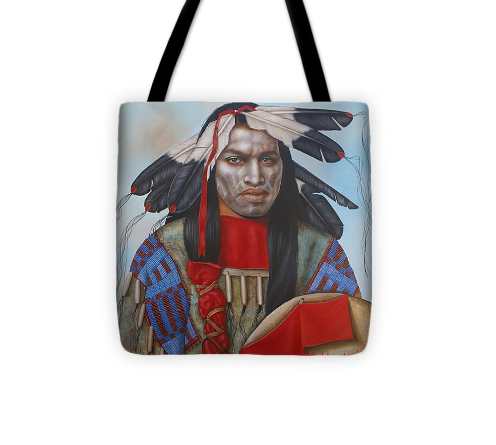 American Indian Tote Bag featuring the painting Time Is At Hand by K Henderson