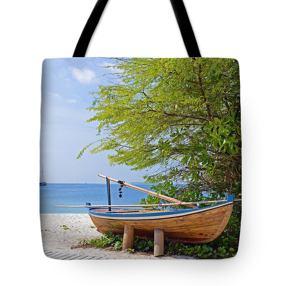 Boats Tote Bag featuring the photograph Time Out by Corinne Rhode