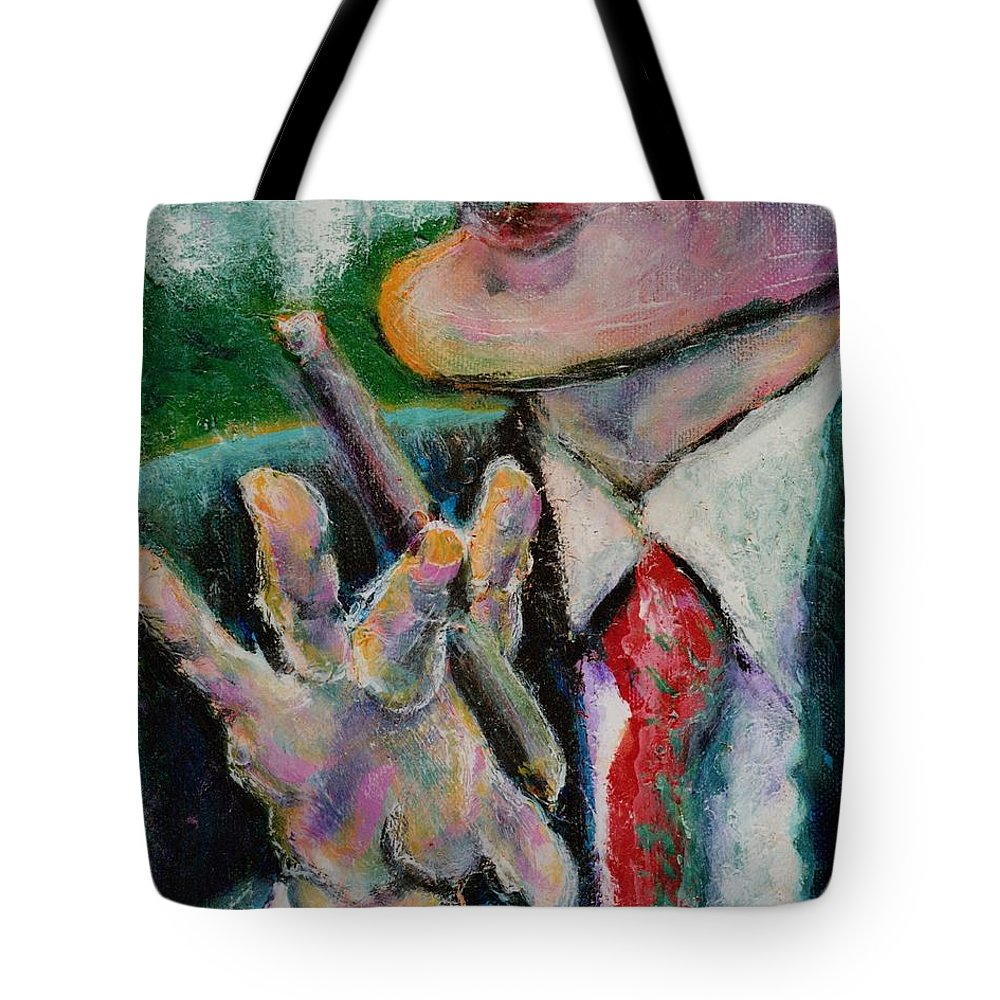 Man Tote Bag featuring the painting Time Out by Dennis Tawes