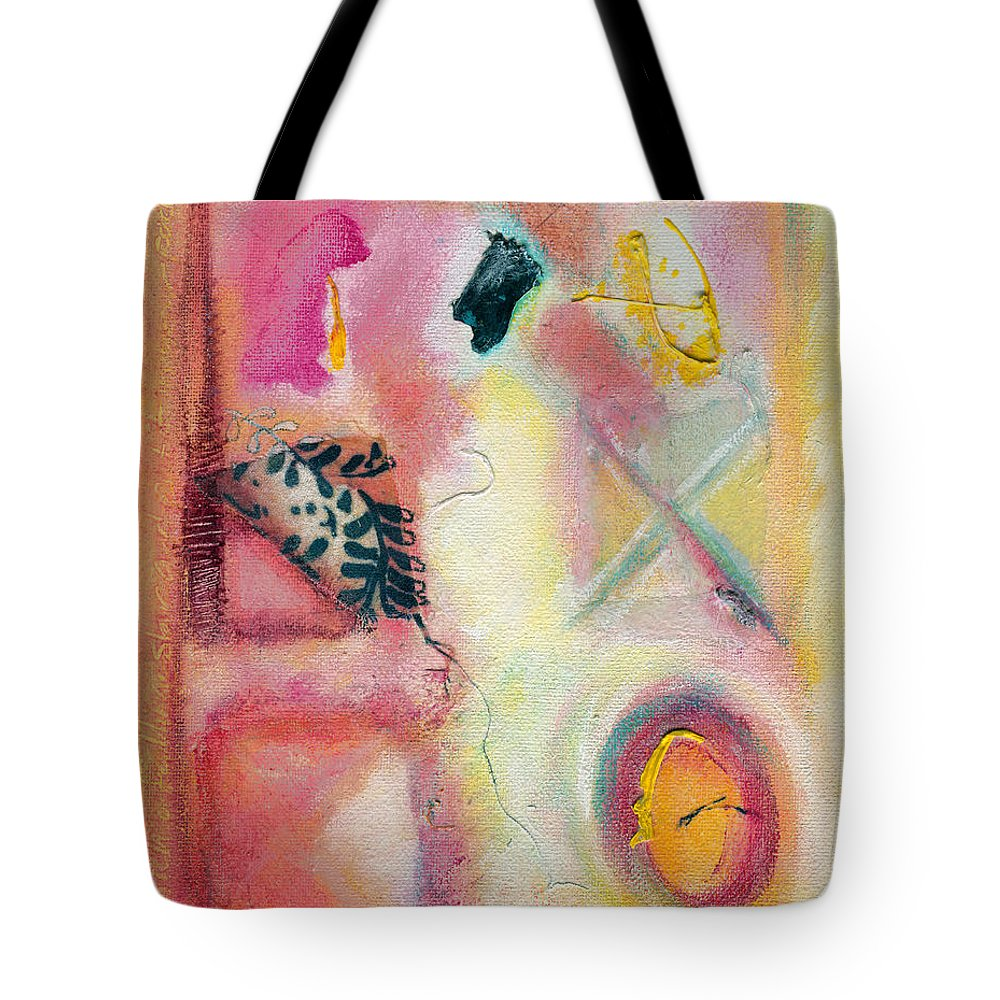 Visual Tote Bag featuring the painting Time To Play Big Time by Kerryn Madsen-Pietsch