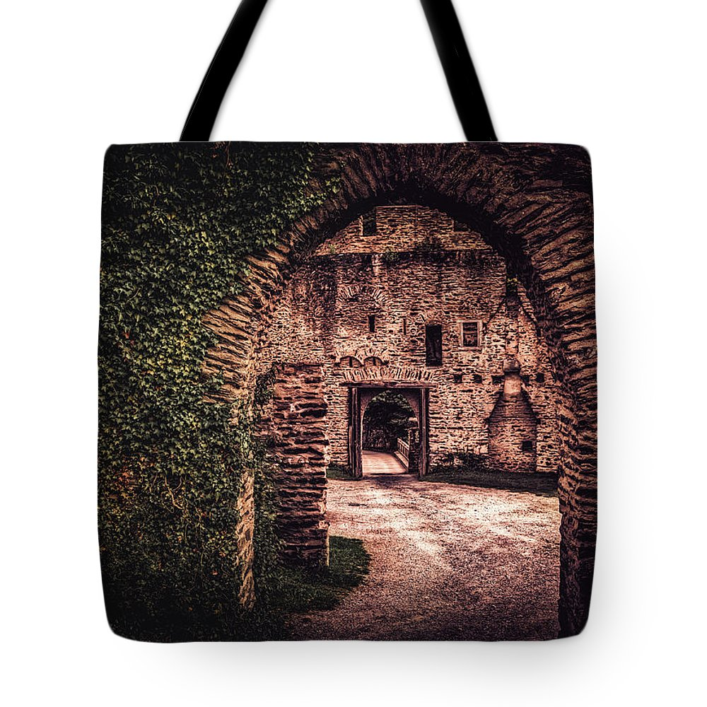 Burg Tote Bag featuring the photograph Time Tunnel by Hans Zimmer