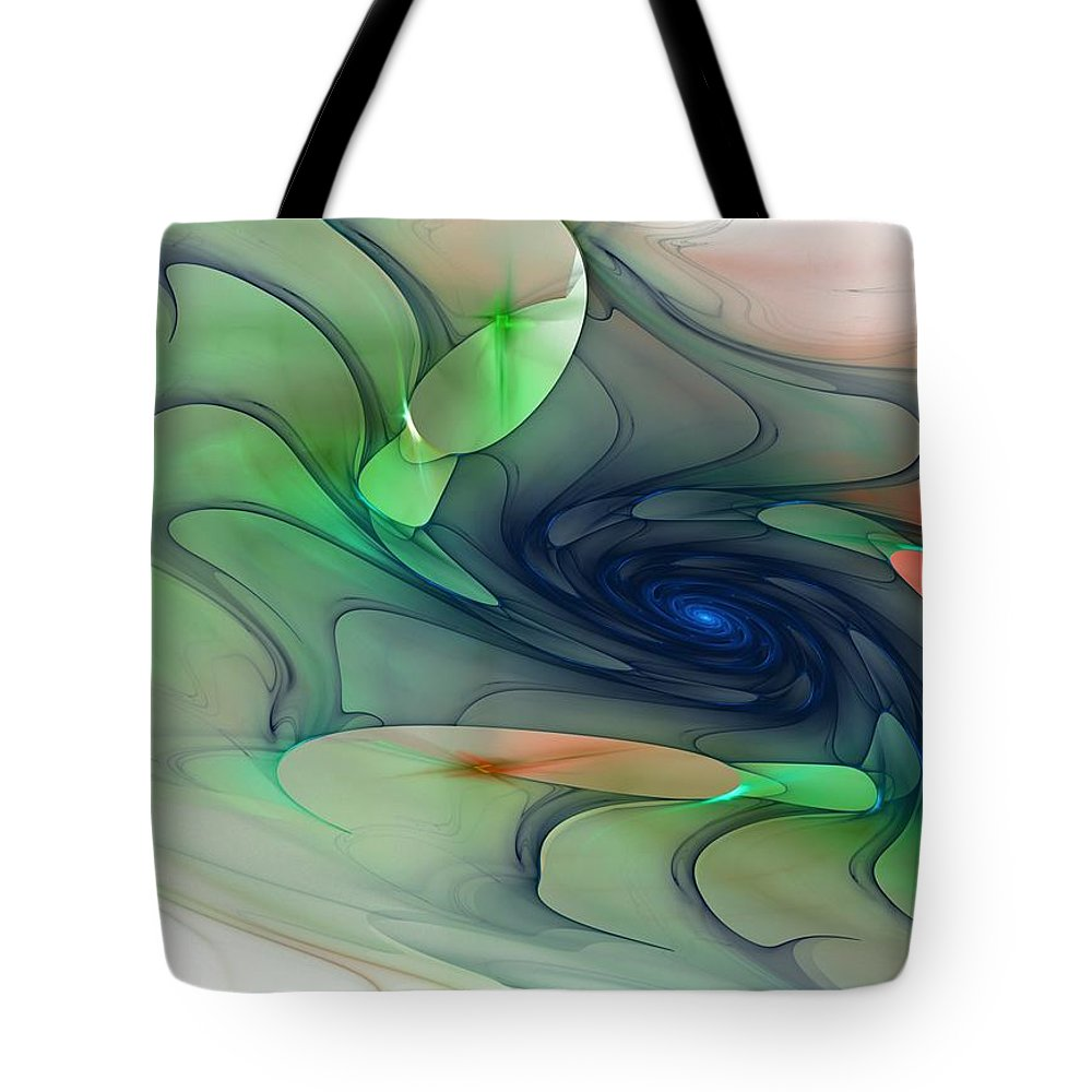 Fantasy Tote Bag featuring the digital art Time Warp by David Lane