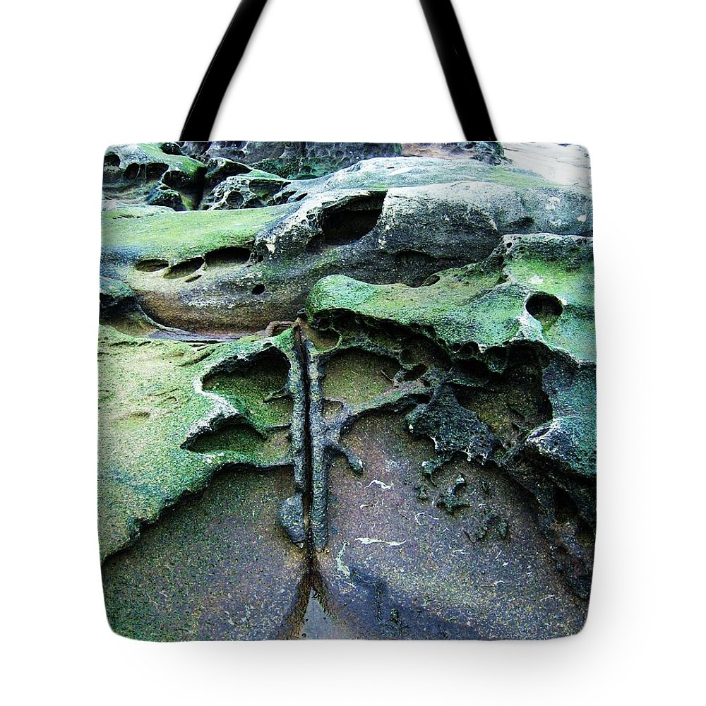 Photograph Rock Beach Ocean Tote Bag featuring the photograph Time Washed Out by Seon-Jeong Kim