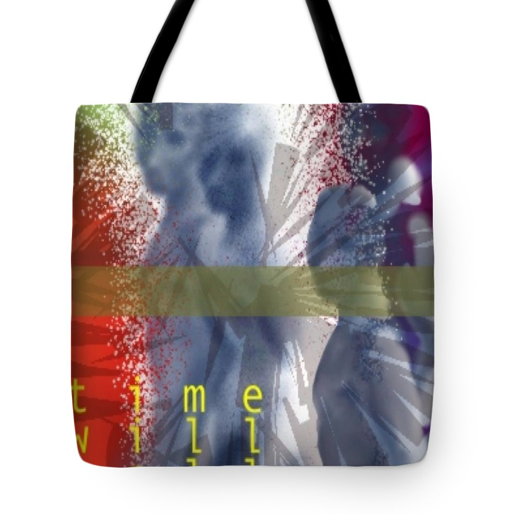 Afterlife Dream Surreal People Tote Bag featuring the digital art Time Will Tell by Veronica Jackson