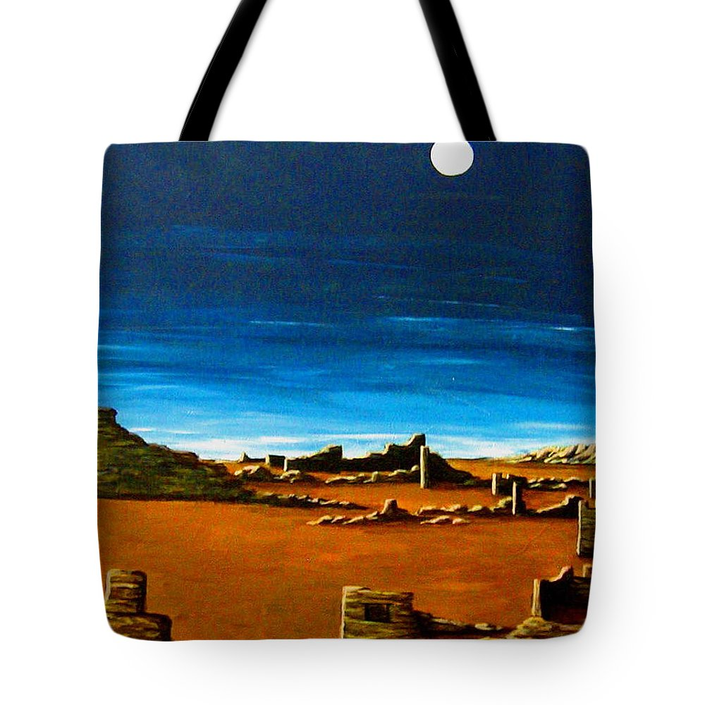 Anasazi Tote Bag featuring the painting Timeless by Diana Dearen