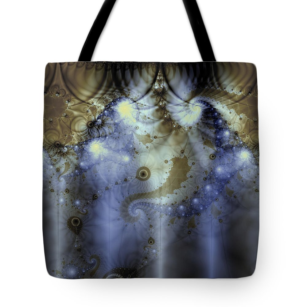 Blue Tote Bag featuring the digital art Timeline Of History by Casey Kotas