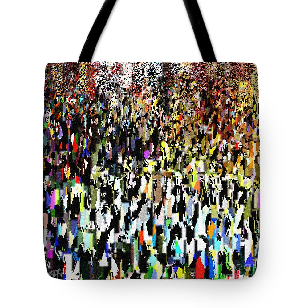 Ebsq Tote Bag featuring the photograph Times Square New Year's Eve by Dee Flouton
