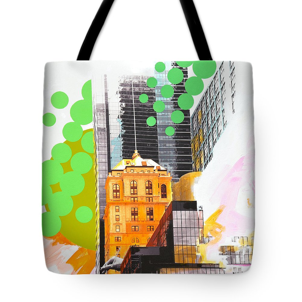 Ny Tote Bag featuring the painting Times Square Ny Advertise by Jean Pierre Rousselet
