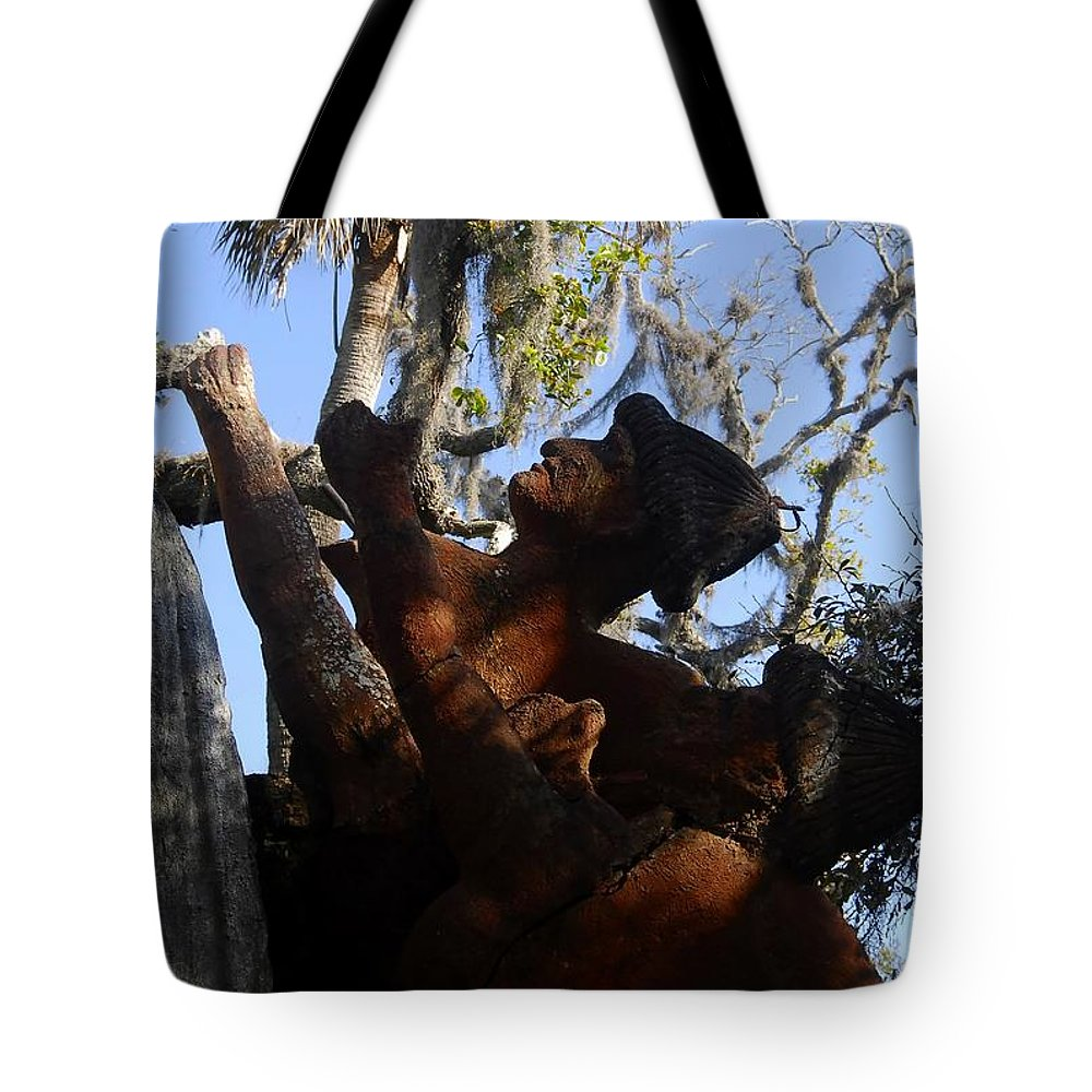 Timucuan Indains Tote Bag featuring the photograph Timucuan Warriors by David Lee Thompson
