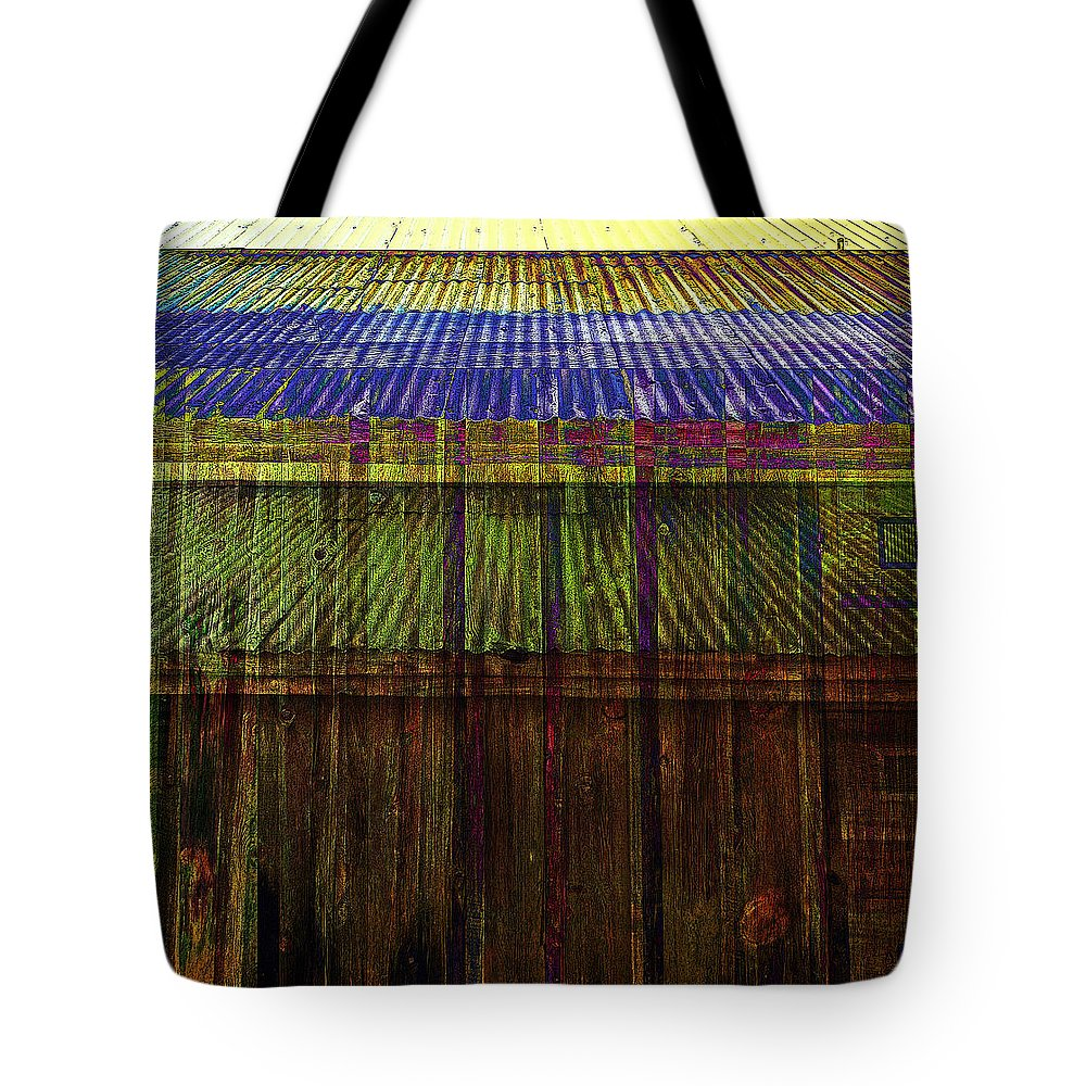 Tin Tote Bag featuring the photograph Tin Roofs by David Pantuso