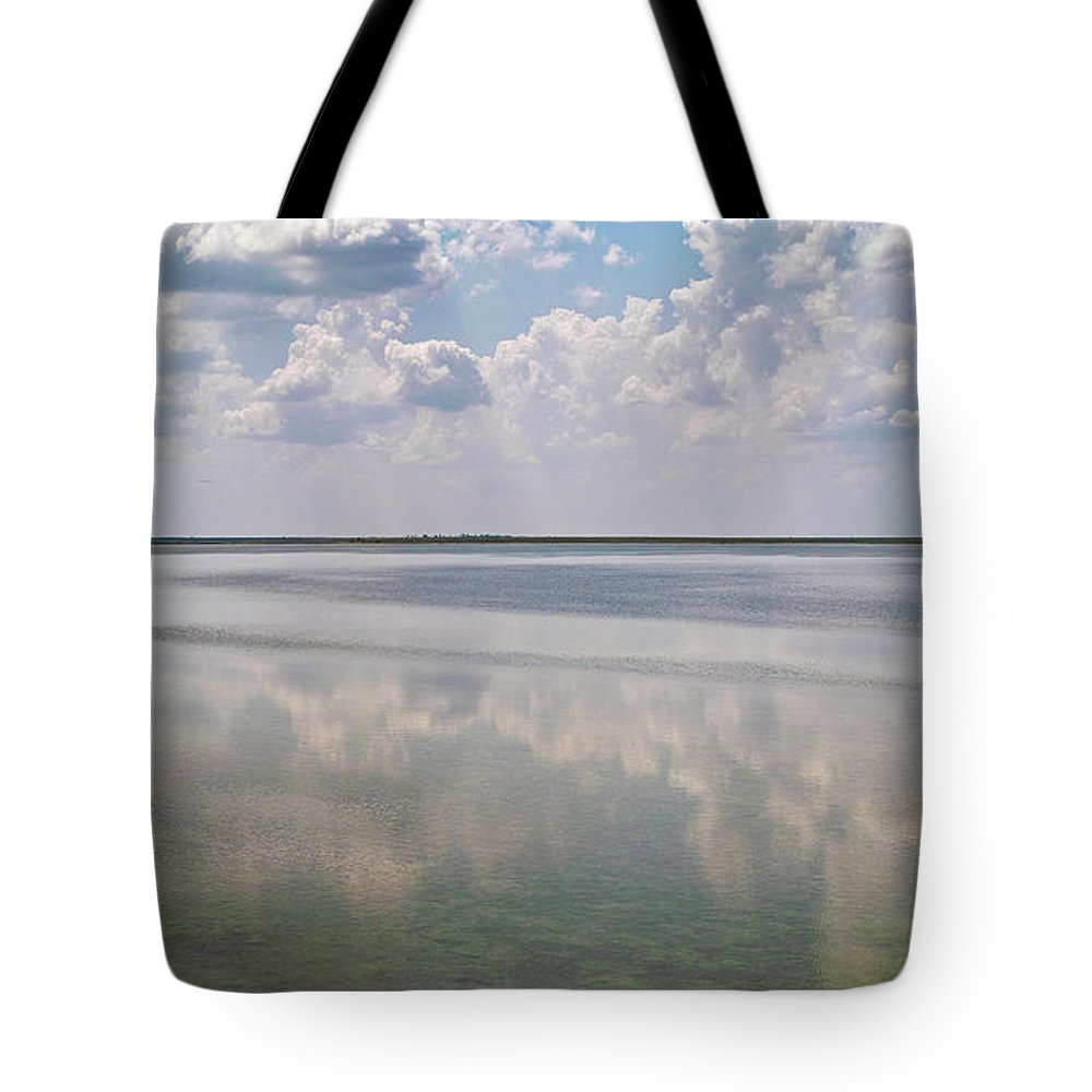 Nature Tote Bag featuring the photograph Tints Of Turquoise. Sivash Lake, 2011. by Mayk's PhotoArt