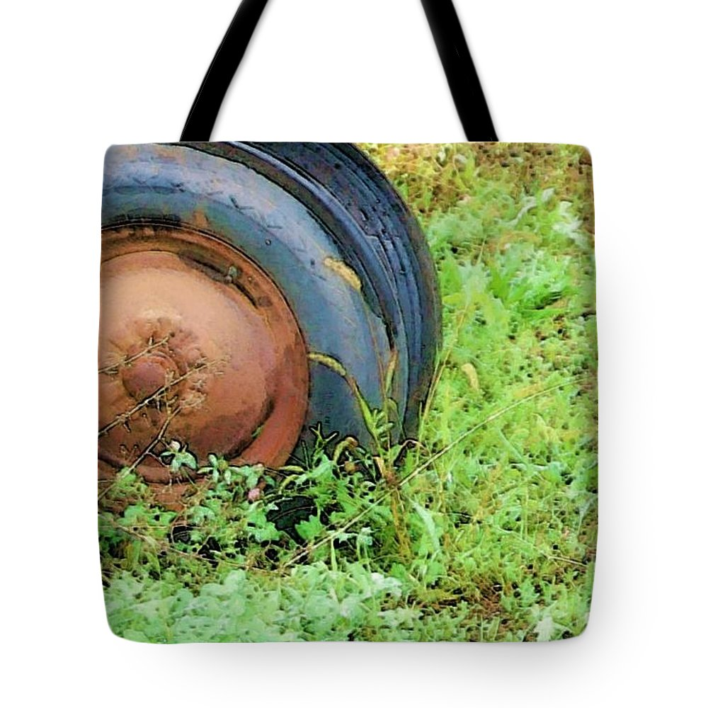 Tire Tote Bag featuring the photograph Tired by Debbi Granruth