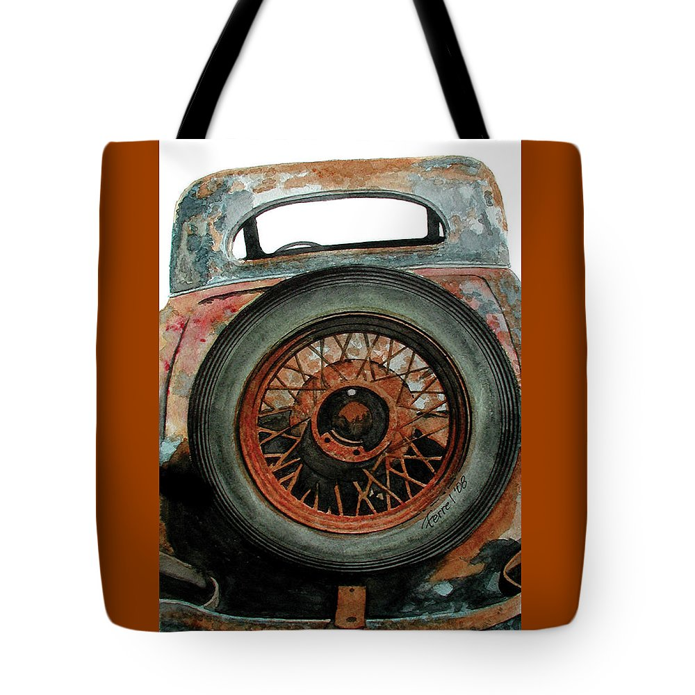 Car Tote Bag featuring the painting Tired by Ferrel Cordle