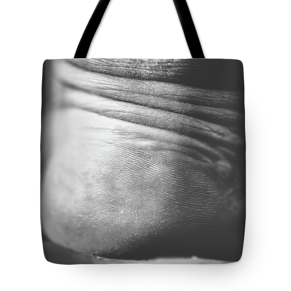 Foot Tote Bag featuring the photograph Tired Some On Heel by Hyuntae Kim