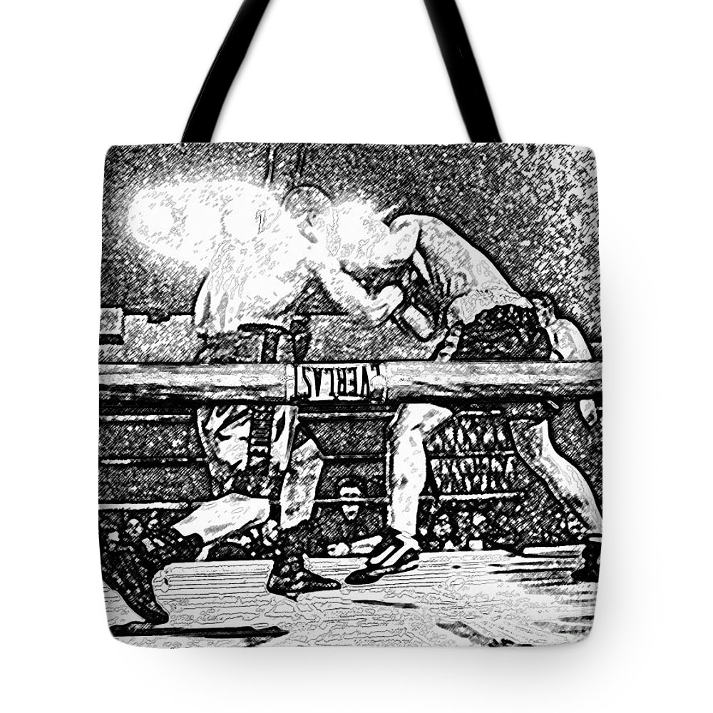 Boxing Tote Bag featuring the photograph Titans Of The Ring by David Lee Thompson