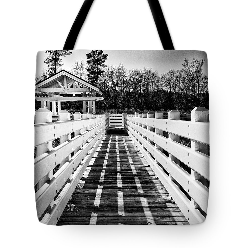 Gazebo Tote Bag featuring the photograph To A Quiet Place by Paul Schreiber