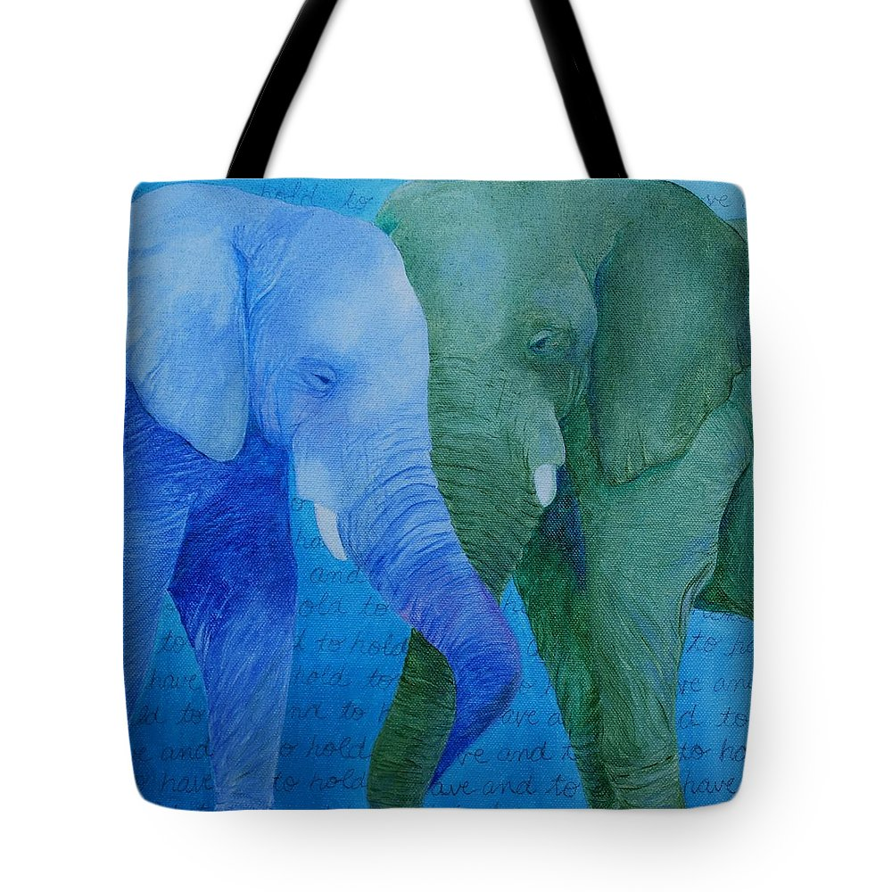 To Have And To Hold Tote Bag featuring the painting To Have and To Hold by Emily Page