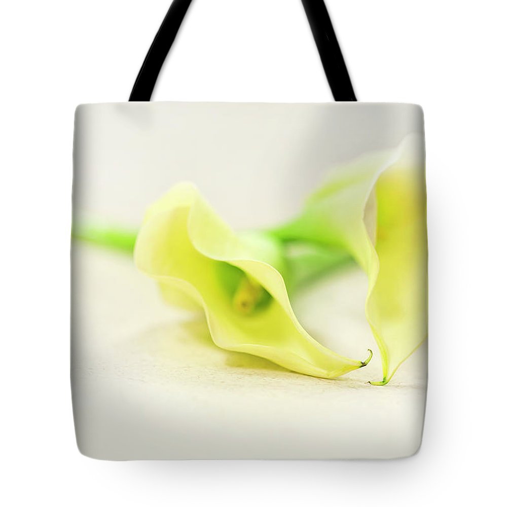 Lily Tote Bag featuring the photograph To Have And To Hold... by Evelina Kremsdorf