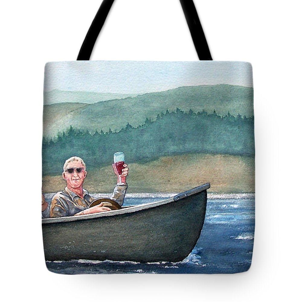 Canoe Tote Bag featuring the painting To Life by Gale Cochran-Smith