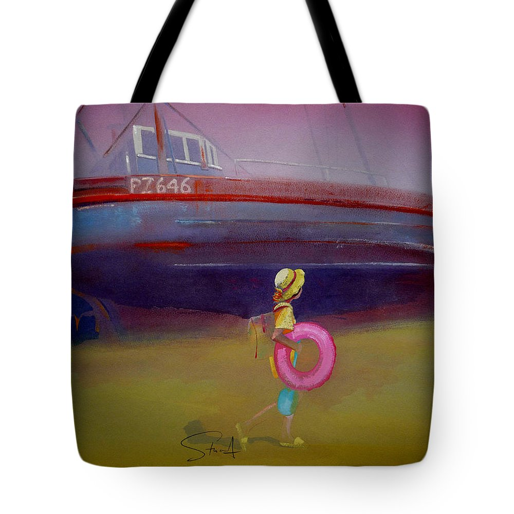 Penzance Tote Bag featuring the painting To The Lighthouse by Charles Stuart