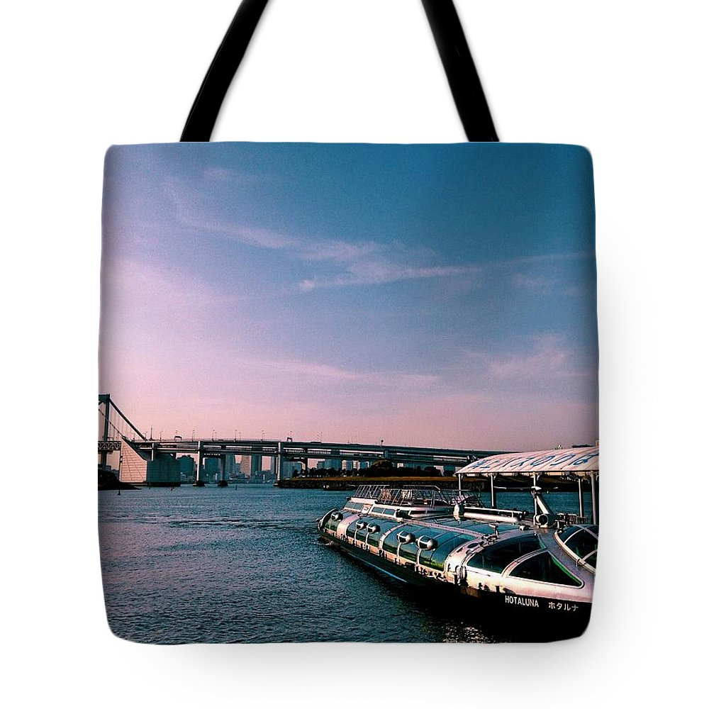 Landscape Tote Bag featuring the photograph To The Space From Sea by Momoko Sano