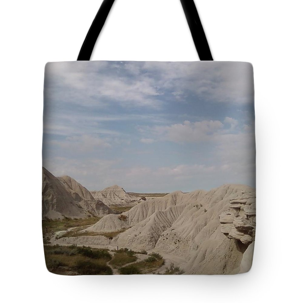 Hills Sand Clouds Toadstool Toad Stool Tote Bag featuring the photograph Toad Stool by Cindy New
