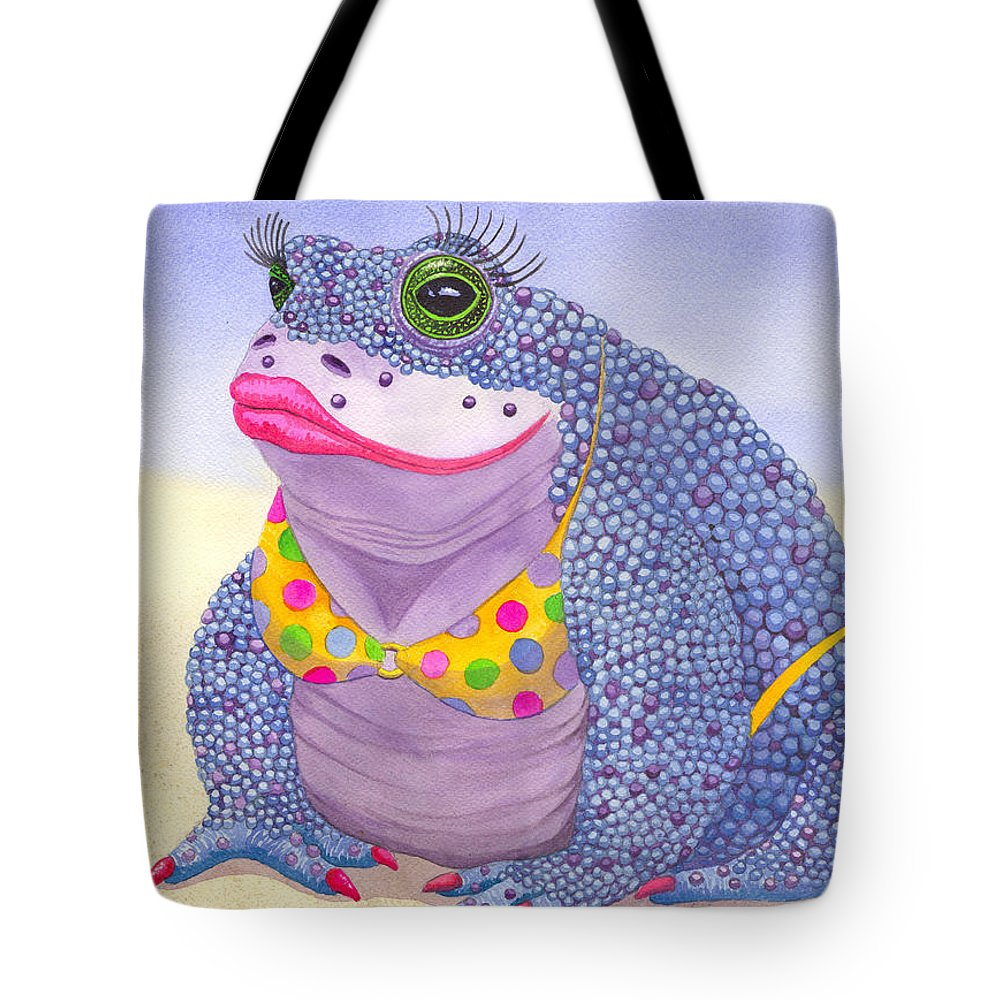 Toad Tote Bag featuring the painting Toadaly Beautiful by Catherine G McElroy