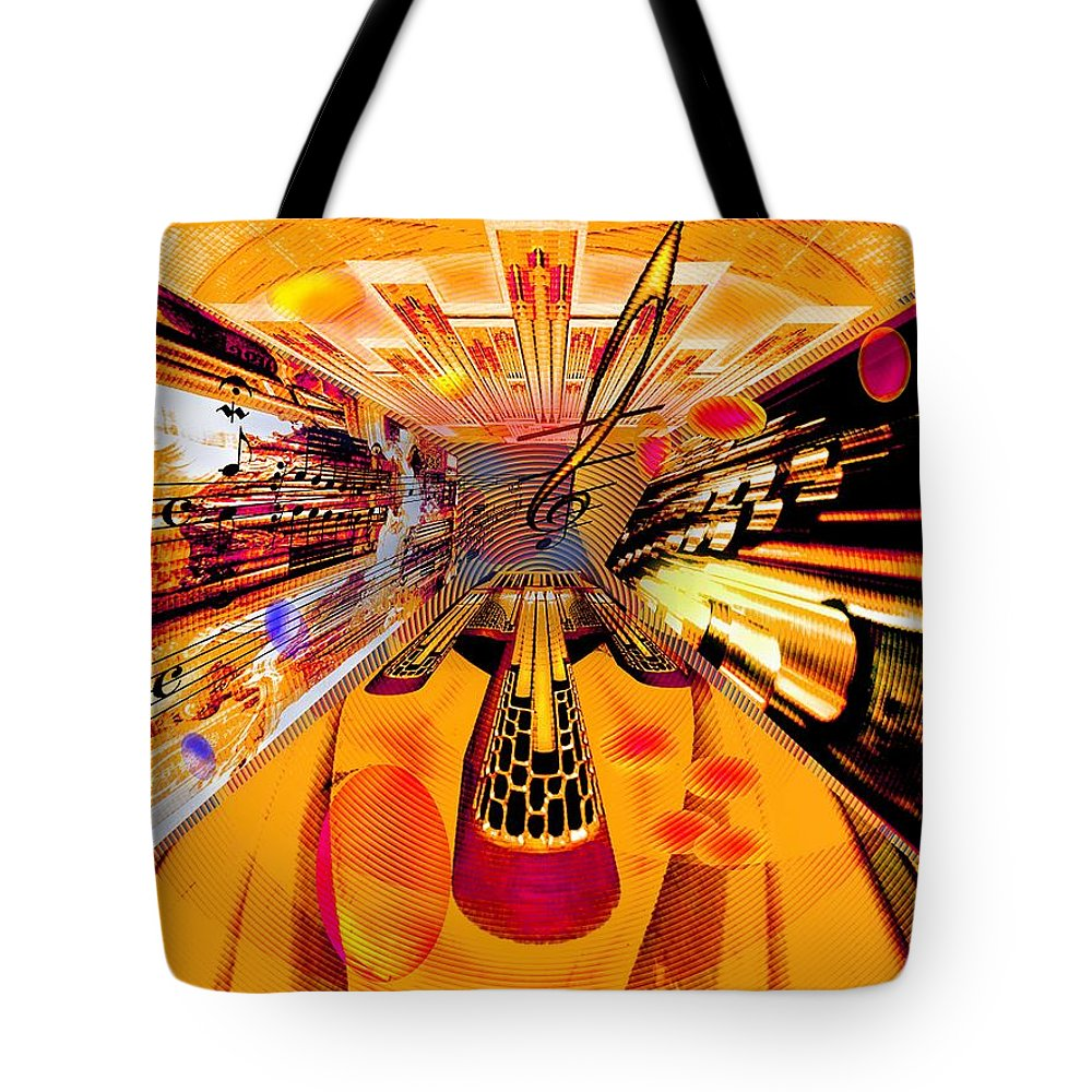 Toccata Tote Bag featuring the digital art Toccata- Masters View by Helmut Rottler