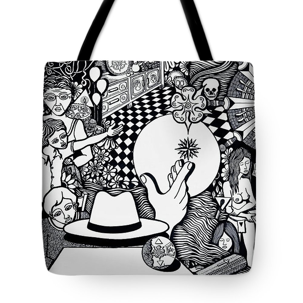 Drawing Tote Bag featuring the drawing Today I No More Have Birthdays by Jose Alberto Gomes Pereira