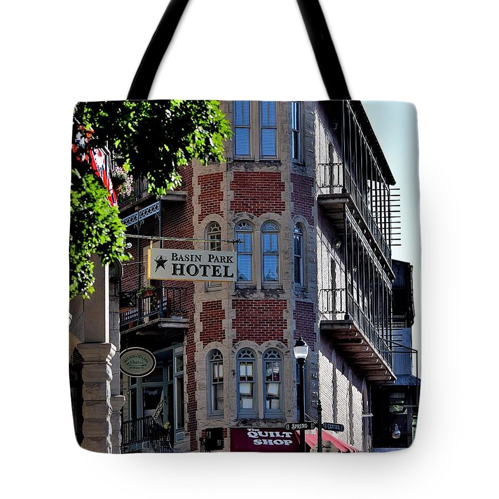 Buildings Tote Bag featuring the photograph Todays Art 1256 by Lawrence Hess