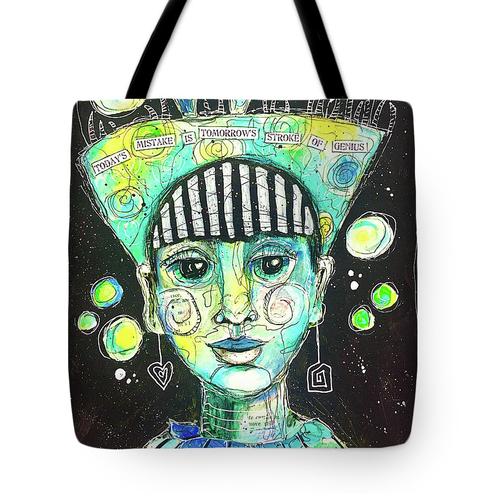 Fun Tote Bag featuring the mixed media Today's Mistake by Lynn Colwell